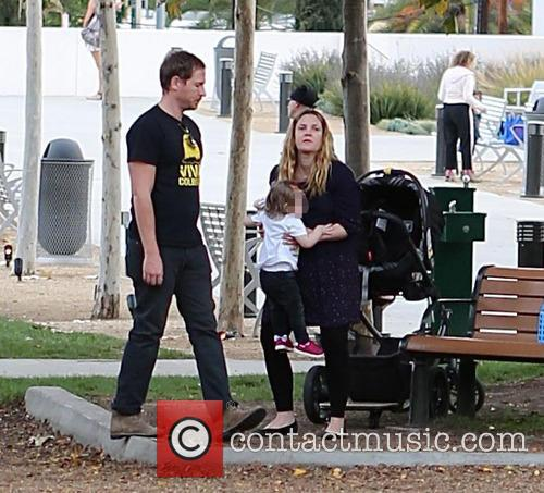 Drew Barrymore, Will Kopelman and Olive Barrymore Kopelman 6