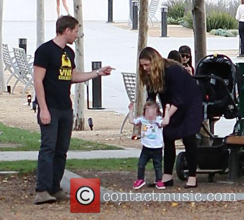 Drew Barrymore, Will Kopelman and Olive Barrymore Kopelman 8