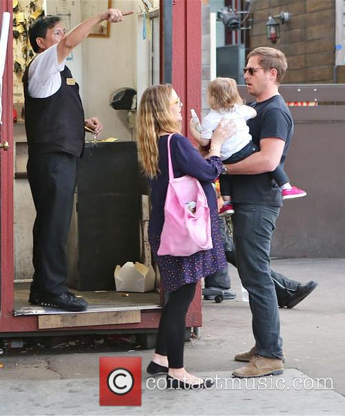 Drew Barrymore, Will Kopelman and Olive Barrymore Kopelman 1