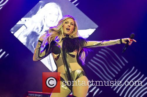 Ellie Goulding performing live at London's O2 Arena