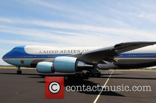 Barack Obama, Air Force One and Michelle Obama 1