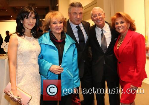 Alec Baldwin, Barbara Walters and Hilaria Baldwin 5
