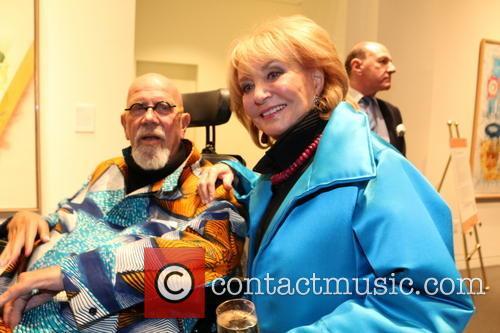 Chuck Close and Barbara Walters