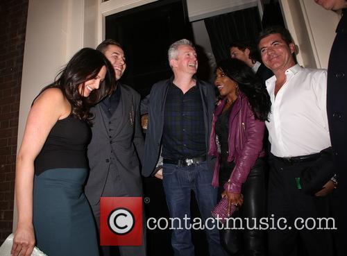 Lauren Silverman, Louis Walsh, Sinitta, David Walliams and Simon Cowell 5