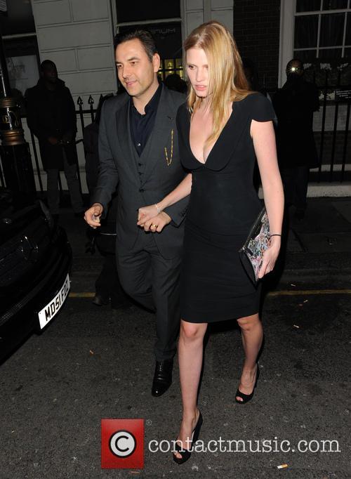 Lara Stone and David Walliams 4