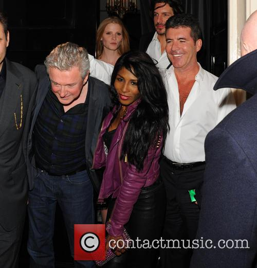 Simon Cowell, Lara Stone, Louis Walsh and Sinitta 3