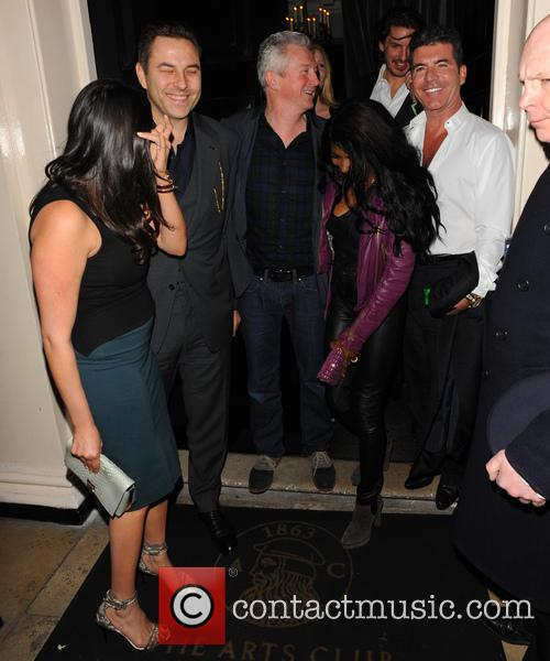 Simon Cowell, Lauren Silverman, David Walliams and Louis Walsh 6