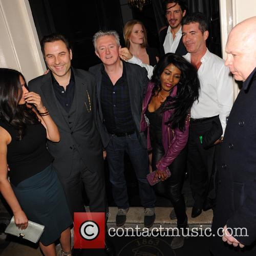 Simon Cowell, Lauren Silverman, Sinitta, Lara Stone, David Walliams, Louis Walsh and Guest 11