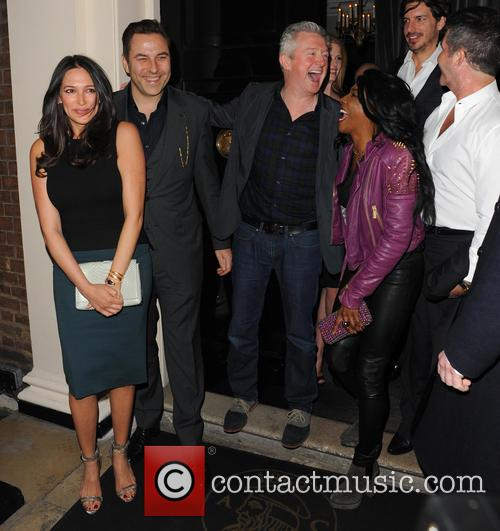 Simon Cowell, Lauren Silverman, Sinitta, Louis Walsh, David Walliams and Guest 2