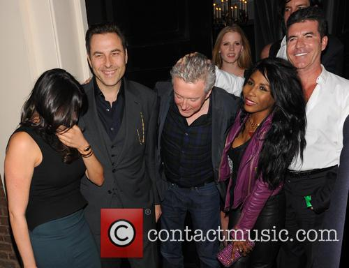 Simon Cowell, Sinitta, Lauren Silverman, David Walliams, Louis Walsh and Lara Stone 7