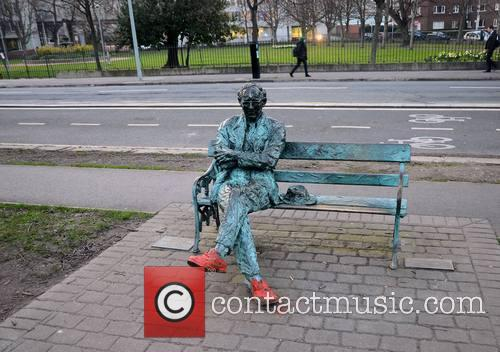 The Patrick Kavanagh statue vandalized in Dublin