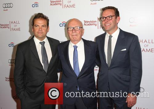 Rupert Murdoch, James Murdoch and Lachlan Murdoch