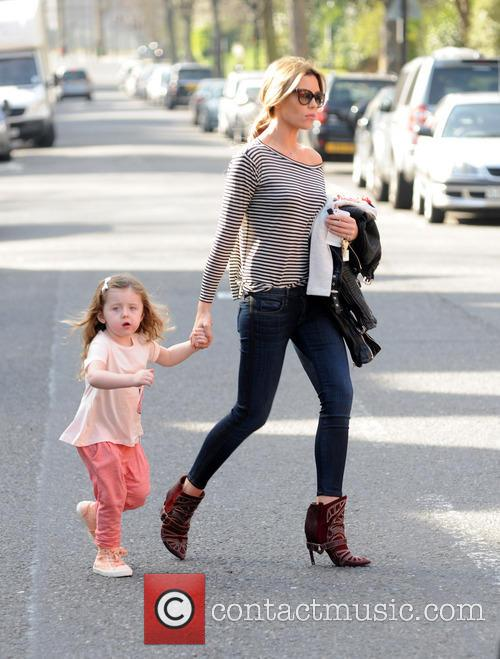 Abby Clancy with her daughter