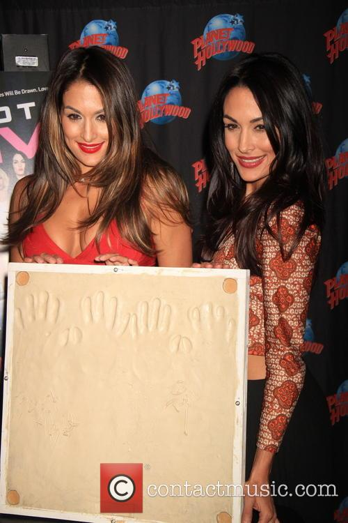 Bella Twins Inducted At Planet Hollywood Hall of...
