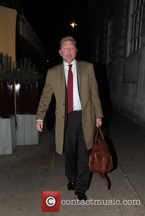Former tennis ace Boris Becker is seen smartly...