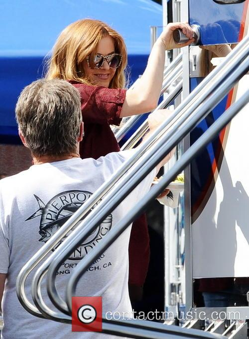 isla fisher isla fisher pregnant on filmset 4109209