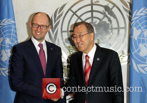 Arseniy Yatsenyuk and Ban Ki Moon 3