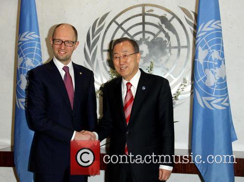 Arseniy Yatsenyuk and Ban Ki Moon 4