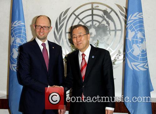 Arseniy Yatsenyuk and Ban Ki Moon 5
