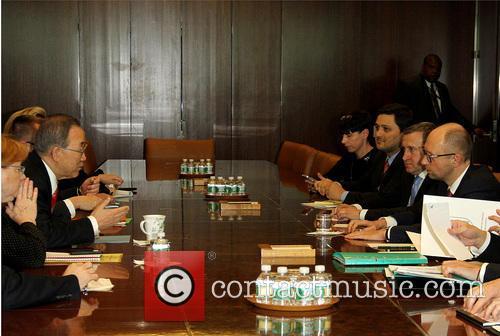 Ban Ki Moon and Arseniy Yatsenyuk 2