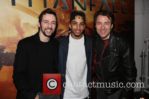 Ralf Little, Troy Von Scheibner and Jonathan Ross 2