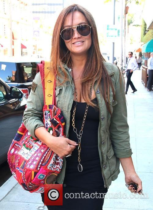 Tia Carrere shops on Bedford Drive