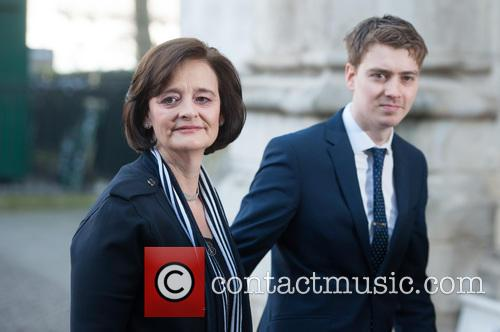 Cherie Blair and Euan Blair 3