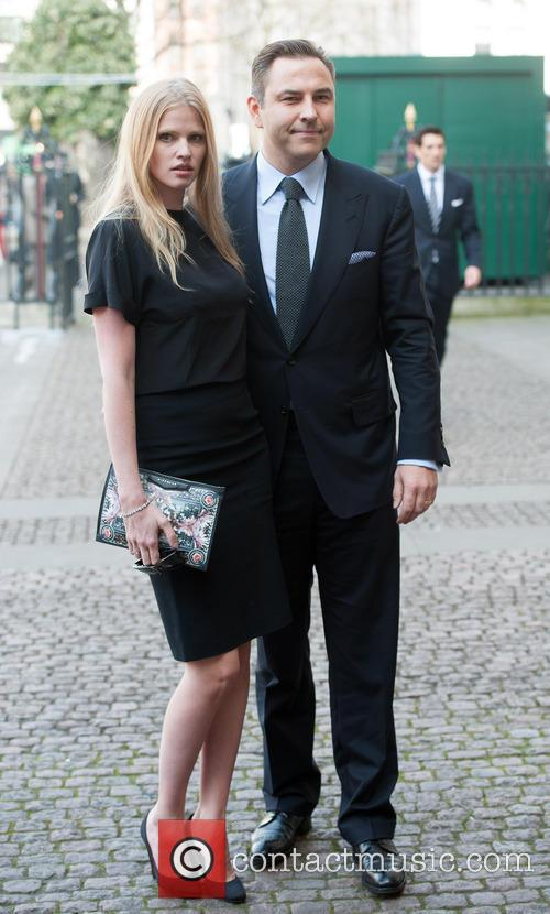 Lara Stone and David Walliams 3