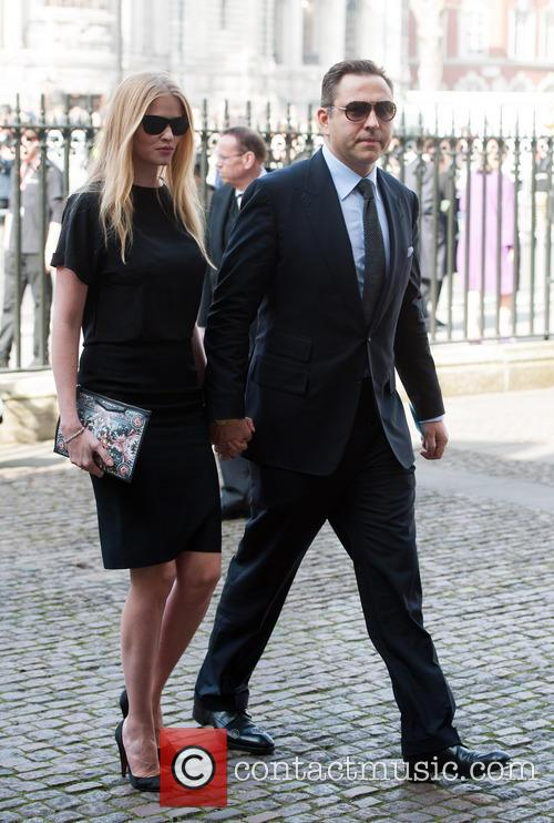 Lara Stone and David Walliams 1