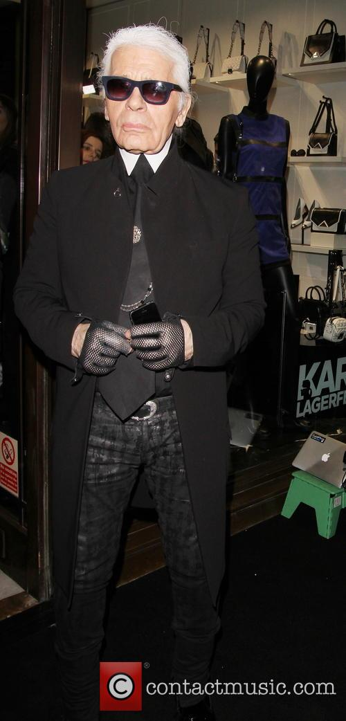 Karl Lagerfeld at his london Store launch