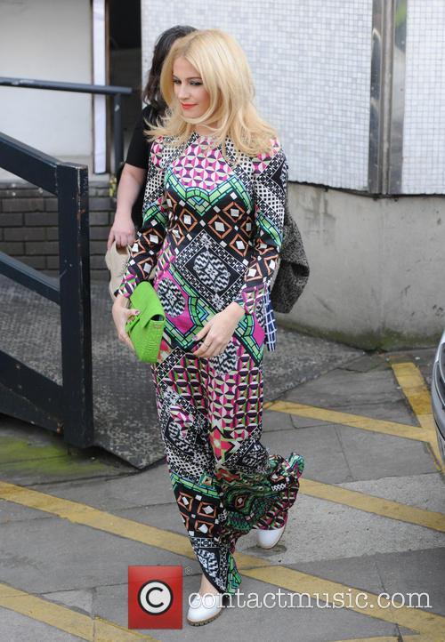 Pixie Lott leaving the ITV studios