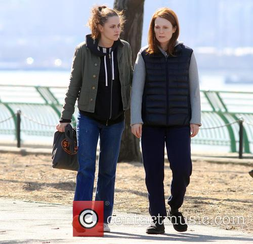 Kristen Stewart and and Julianne Moore on the...