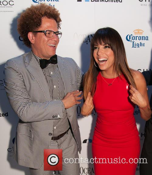 Romero Britto and Eva Longoria 1