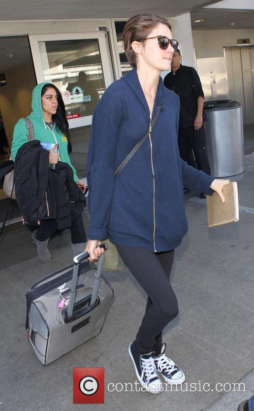 Shailene Woodley arrives at Los Angeles International (LAX)...
