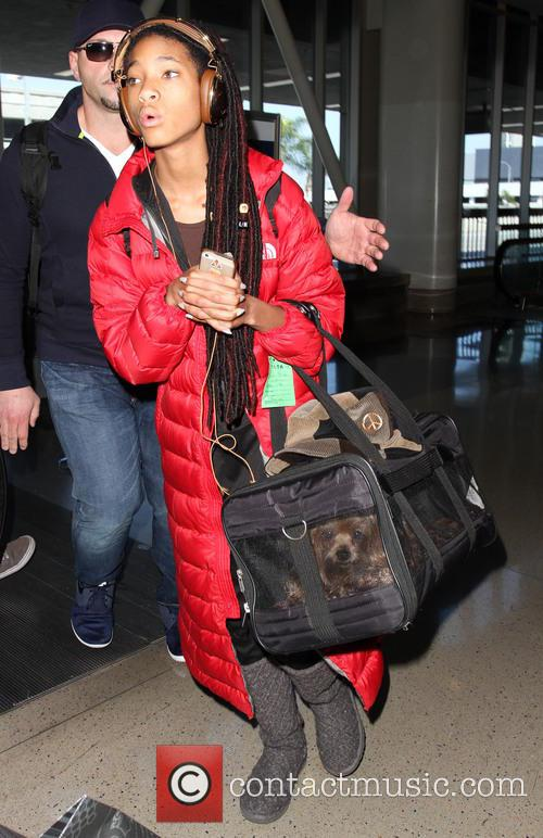 Willow Smith arrives at Los Angeles International (LAX)...