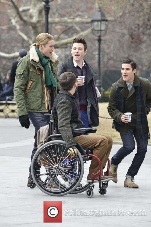 Chord Overstreet, Chris Colfer, Darren Criss and Kevin Mchale 6
