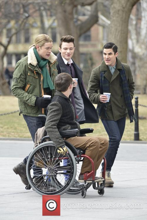 Chord Overstreet, Chris Colfer, Darren Criss and Kevin Mchale 7