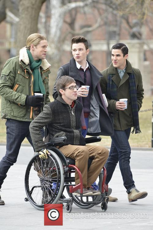 Chord Overstreet, Chris Colfer, Darren Criss and Kevin Mchale 8