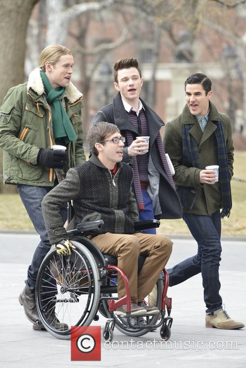 Chord Overstreet, Chris Colfer, Darren Criss and Kevin Mchale 9