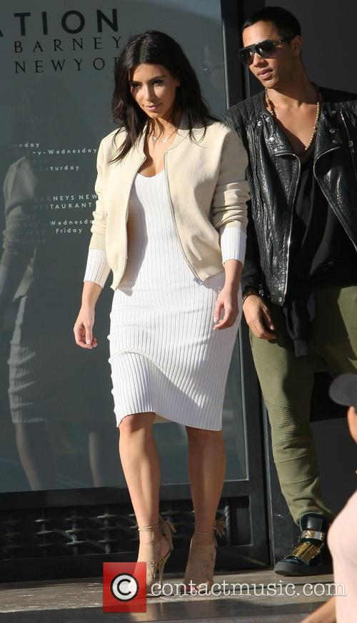 Kim Kardashian and Olivier Rousteing 8