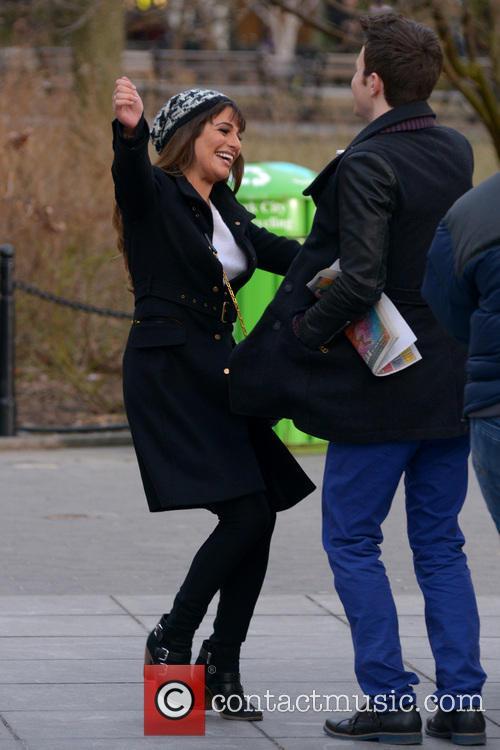 Lea Michele and Chris Colfer 6