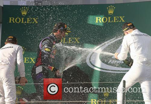 Nico Rosberg, Daniel Ricciardo and Kevin Magnussen 9