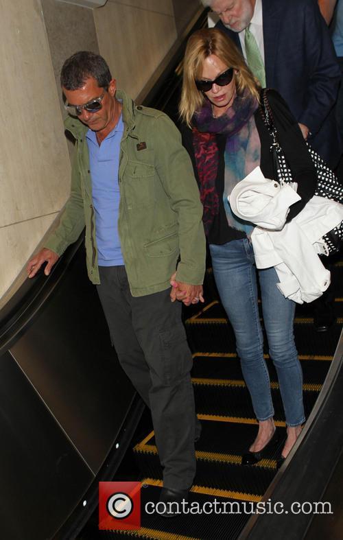 Antonio Banderas, Melanie Griffith, Los Angeles International Airport (LAX)