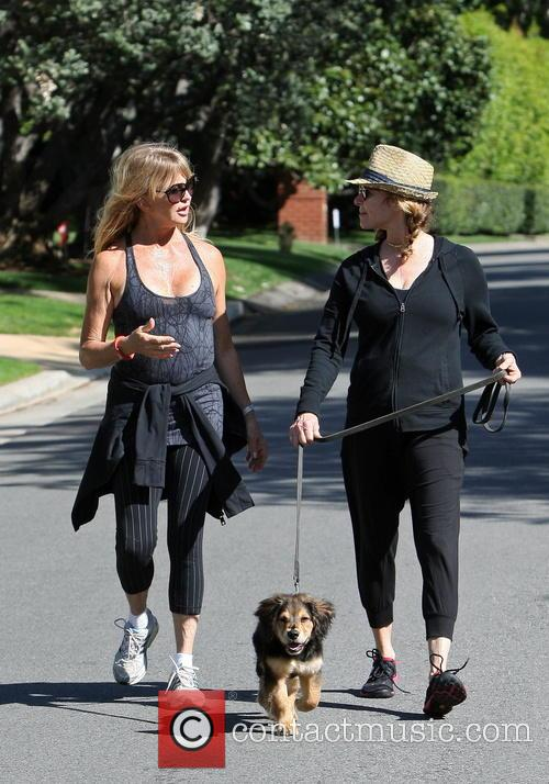 Goldie Hawn Walking With A Friend