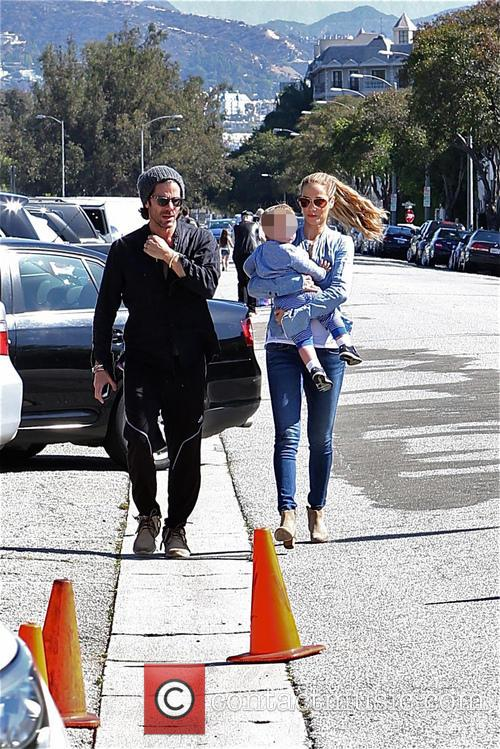 Elizabeth Berkley, Greg Lauren and Sky Lauren 2