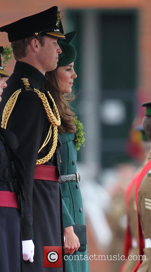 The Duchess of Cambridge, Prince William, Mons Barracks