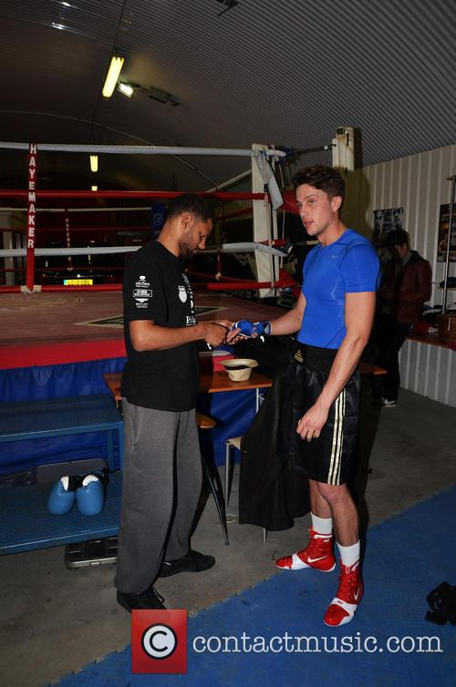 Towie Lewis Bloor Boxing Training