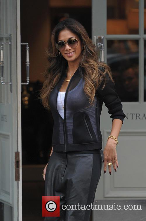 Nicole Scherzinger leaving a hotel, having spent the...