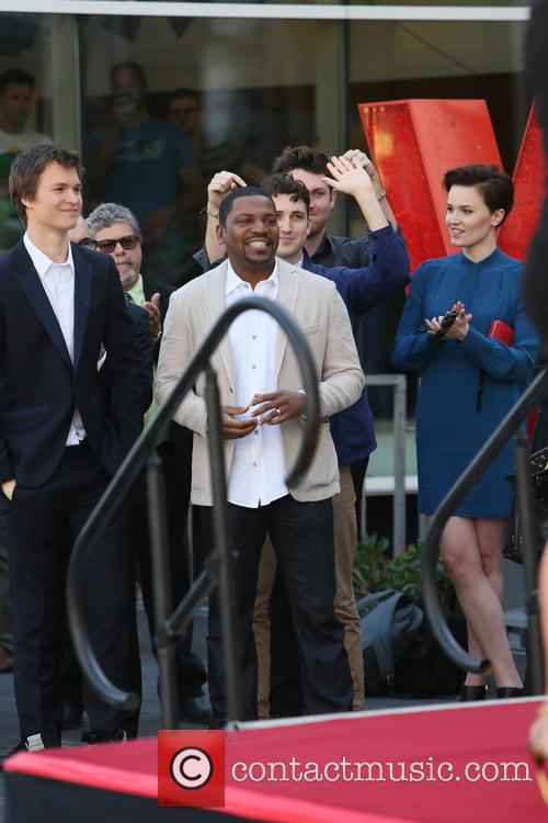 Ansel Elgort, Mekhi Phifer and Veronica Roth 2
