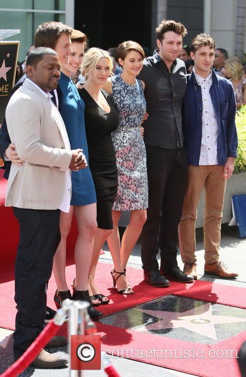Mekhi Phifer, Veronica Roth, Kate Winslet, Shailene Woodley, Ansel Elgort and Miles Teller 7